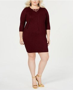 Say What? short dress red wine on Tradesy