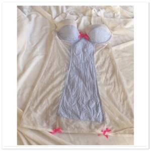 Victoria's Secret White Baby Doll Lingerie Sexy Bridesmaid/Mob Dress Size 10 (M)