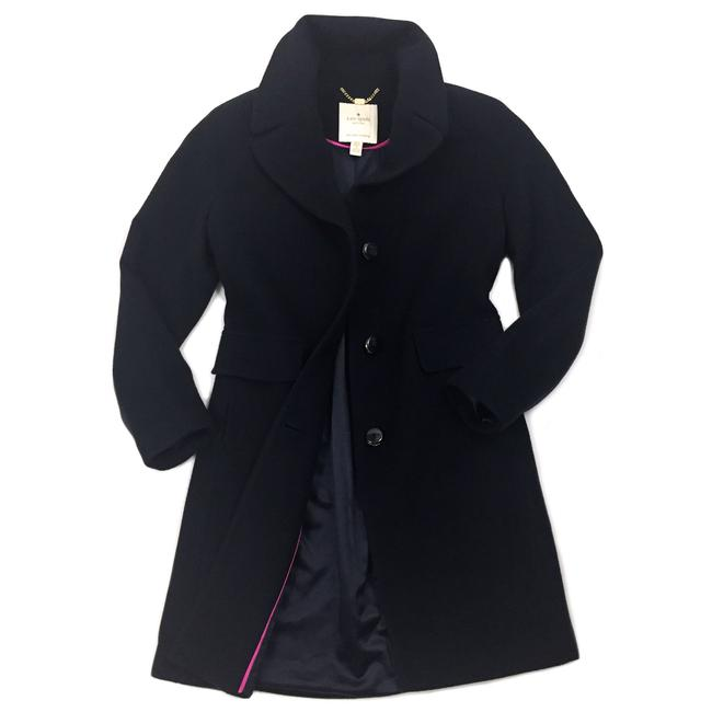Item - Navy New York Womens Two Button Wool Coat Size 10 (M)