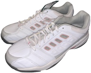 Prince Athletic Apparel Leather Arch White & Pink Athletic
