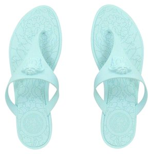 7ccf3be010e1 Versace Signature Rubber Pvc Pva Aqua Blue Sandals