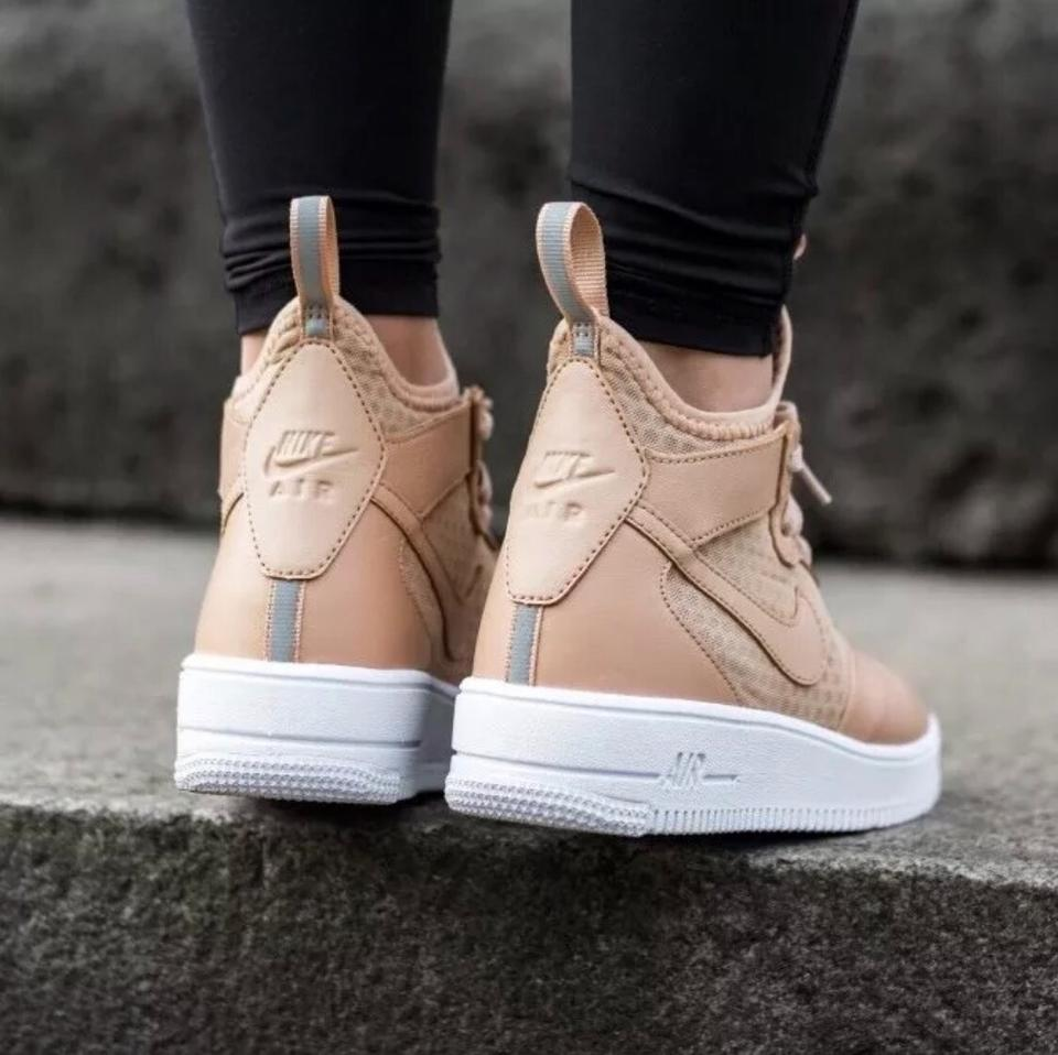 wholesale dealer ada45 70dc4 Nike Women s Air Force 1 Ultraforce Mid Vachetta Tan Sneakers ...