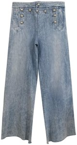 Gucci Sailor Flare High Light Denim Trouser/Wide Leg Jeans-Acid