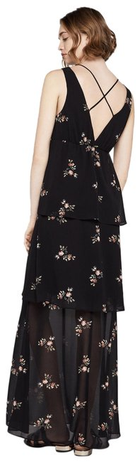 Item - Black Tiered Floral Long Casual Maxi Dress Size 6 (S)