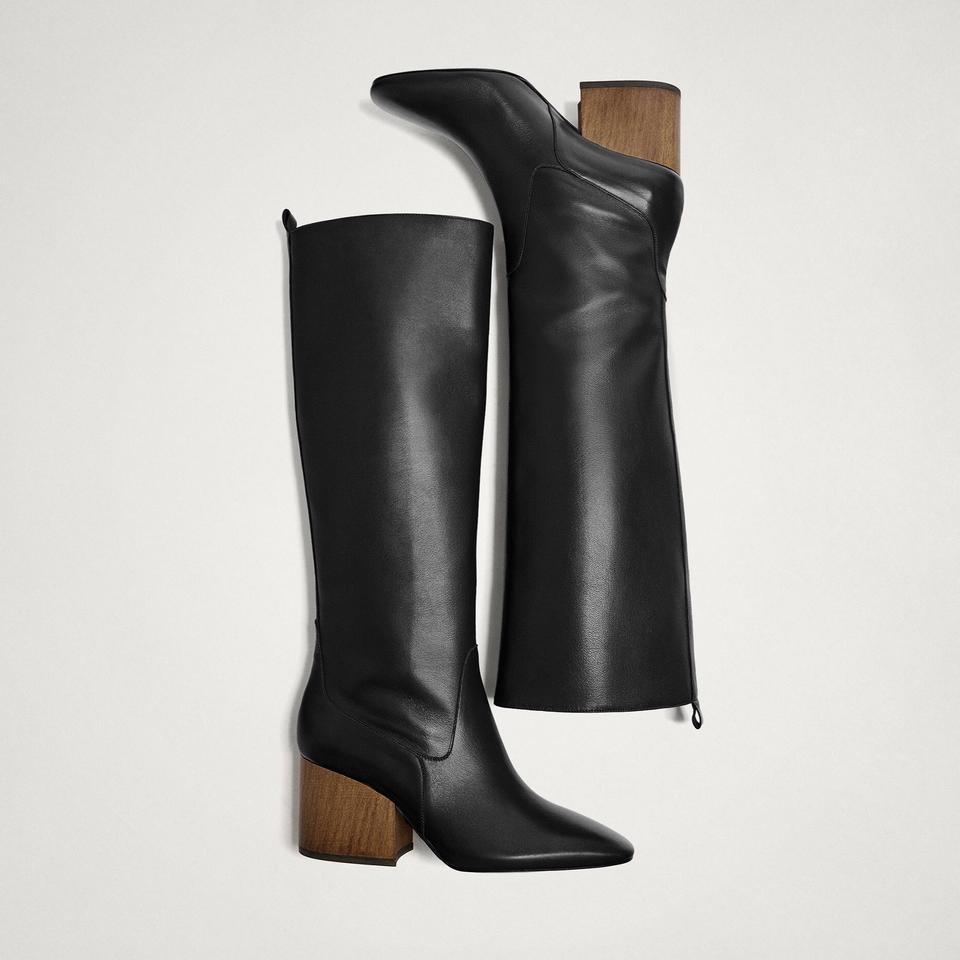 45c6ee7fa0d Massimo Dutti Black Limited Edition Sheep Leather Boots/Booties Size US 6.5  Regular (M, B) 53% off retail