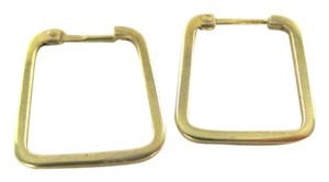14KT YELLOW GOLD EARRINGS HOOP SQUARE 2.0 GRAMS FINE JEWELRY MOTHERS DAY GIFTS
