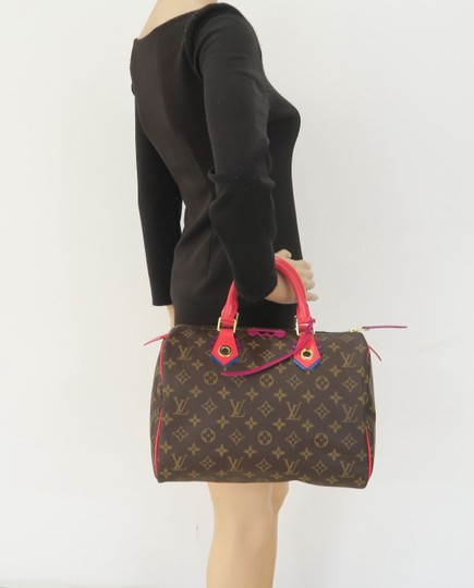 Louis Vuitton Lv Speedy 30 Monogram Tote in Brown Image 11