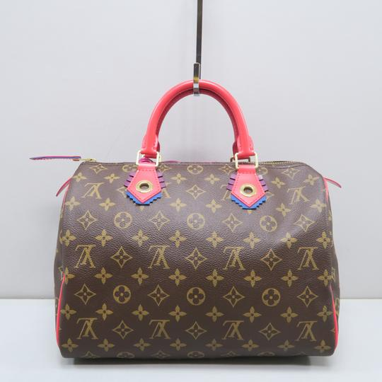 Louis Vuitton Lv Speedy 30 Monogram Tote in Brown Image 2