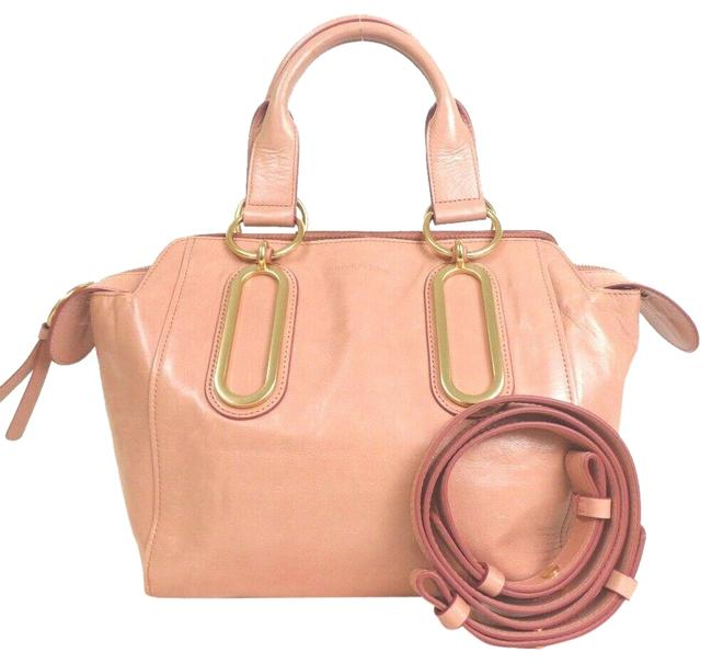 Chloé Convertable #464o3101 Pink Leather Satchel Chloé Convertable #464o3101 Pink Leather Satchel Image 1
