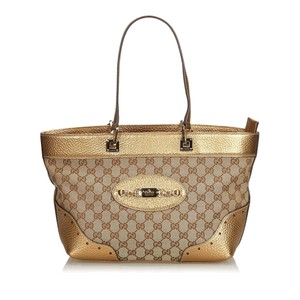 536eb697c206 Gucci 9cguto119 Vintage Blend Leather Tote in Brown