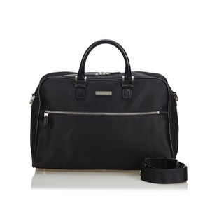 Burberry 9cbutr002 Vintage Nylon Leather Black Travel Bag