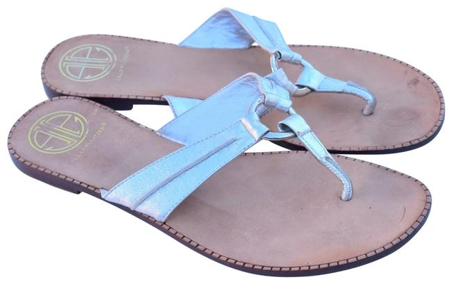Lilly Pulitzer Silver Ring Sandals Size US 9.5 Regular (M, B) Lilly Pulitzer Silver Ring Sandals Size US 9.5 Regular (M, B) Image 1
