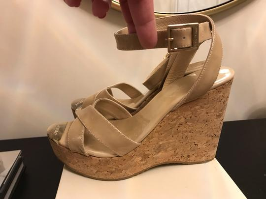 Jimmy Choo Nude patent Wedges Image 1