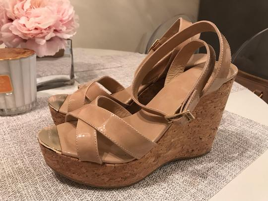 Jimmy Choo Nude patent Wedges Image 2