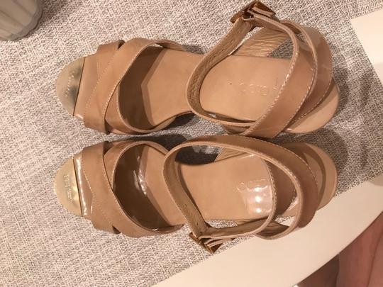 Jimmy Choo Nude patent Wedges Image 3