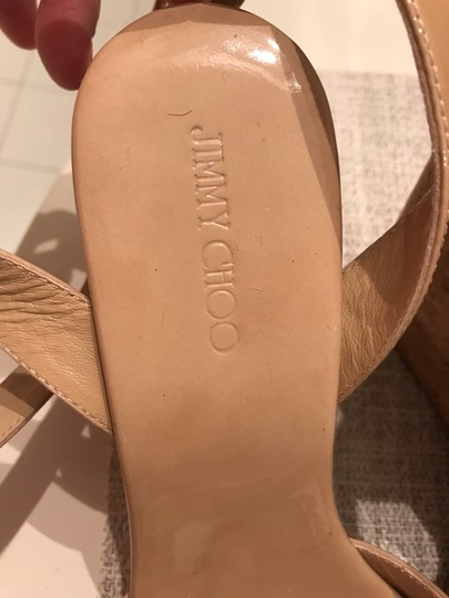 Jimmy Choo Nude patent Wedges Image 6