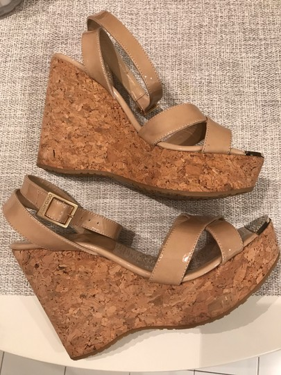 Jimmy Choo Nude patent Wedges Image 8