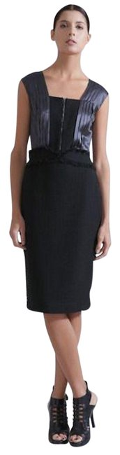 Preload https://img-static.tradesy.com/item/25249758/magaschoni-black-grey-cotton-boucle-pleated-sheath-mid-length-workoffice-dress-size-12-l-0-1-650-650.jpg