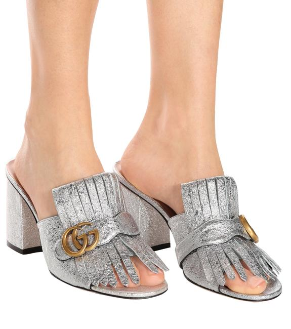 Item - Silver Marmont Fringed Sandals Princetowns Mules/Slides Size EU 40 (Approx. US 10) Regular (M, B)