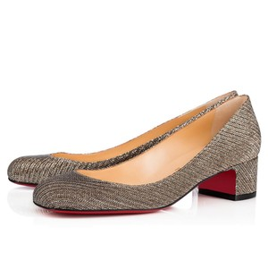 503c1c22ddb0 Christian Louboutin Heels Block Red Sole Classic Silver Pumps