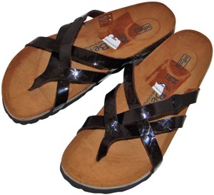 548620ed3eaf Birkenstock Blogger Betula Brown Croc Slide Sandals