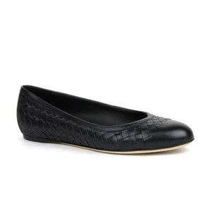 Bottega Veneta Women's Intrecciato Leather Black Flats
