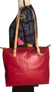Arcadia Tote in Red/Tannish-Brown