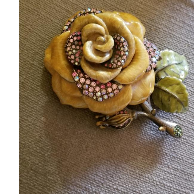 Item - Mauve Box Rose Enamel Ring Decoration