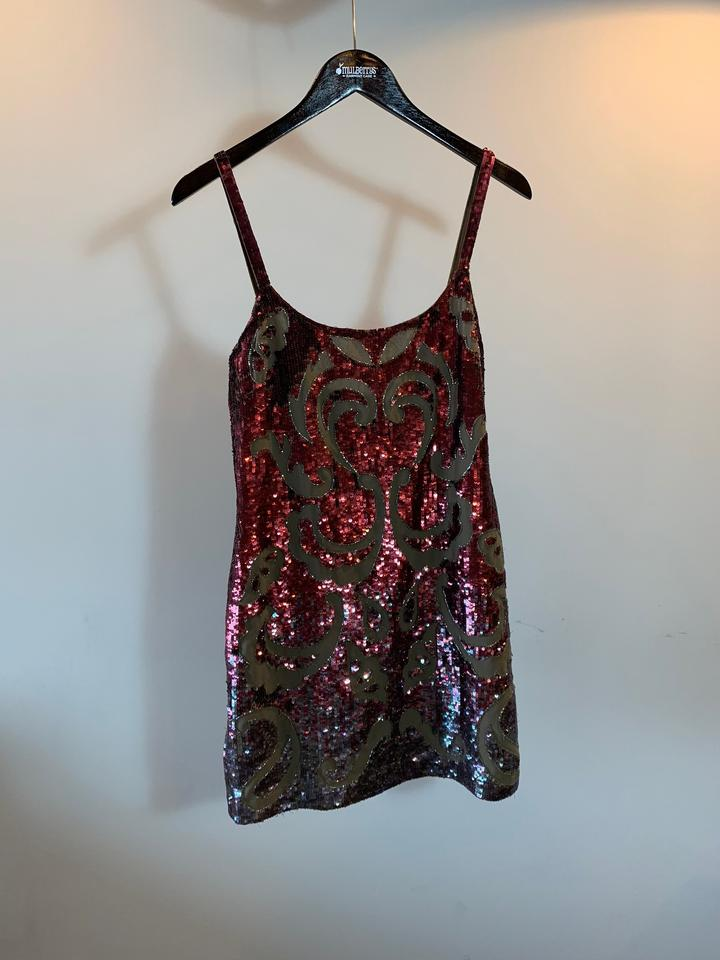 64a8e5a2d6 Needle   Thread Red Gloss Lace Mini Short Cocktail Dress Size 8 (M) -  Tradesy