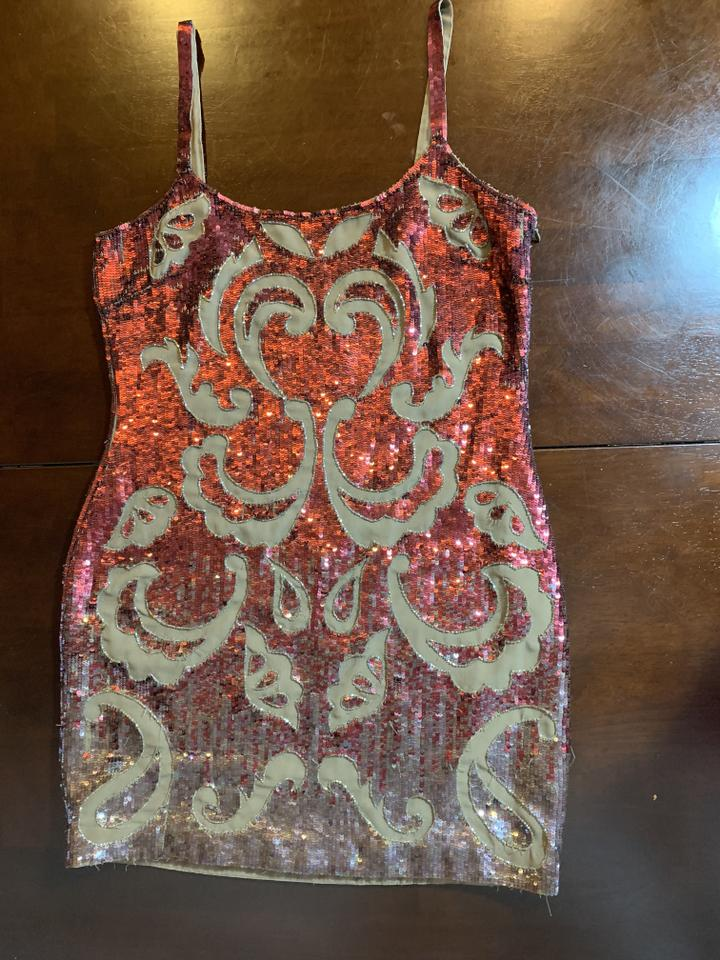 6ee2fb9c971 Needle   Thread Red Gloss Lace Mini Short Cocktail Dress Size 8 (M) -  Tradesy