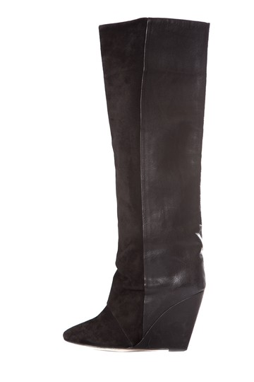 Preload https://img-static.tradesy.com/item/25251201/isabel-marant-black-suede-and-leather-boots-wedges-size-eu-37-approx-us-7-regular-m-b-0-0-540-540.jpg