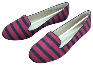 Saks Fifth Avenue Red / Navy Flats