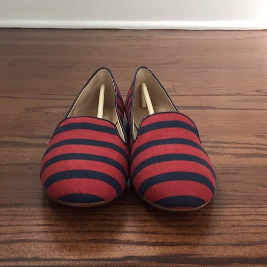 Saks Fifth Avenue Red / Navy Flats Image 2