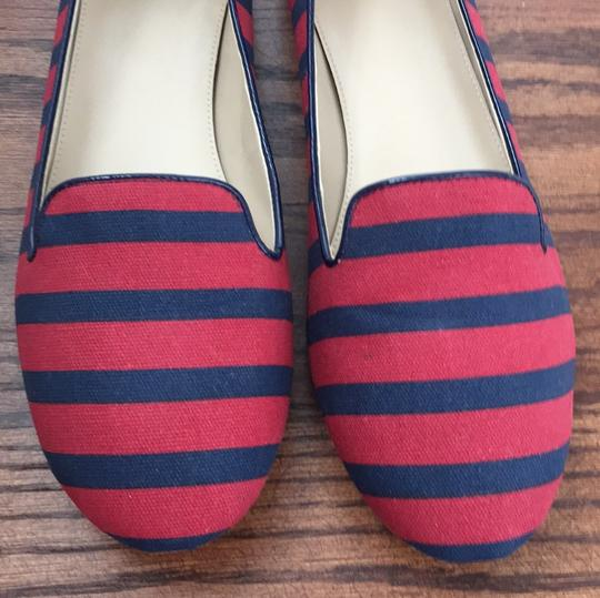 Saks Fifth Avenue Red / Navy Flats Image 6
