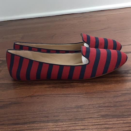 Saks Fifth Avenue Red / Navy Flats Image 7