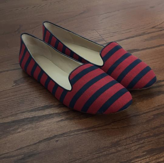 Saks Fifth Avenue Red / Navy Flats Image 8