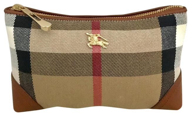 Item - Brown & Multiple Euc House Check Small Cosmetic Bag