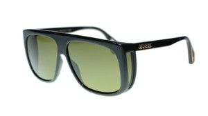d0ac8a4c0b3 Gucci NEW Gucci GG0467S 001 Black Frame Green Lens Square Sunglasses Authent
