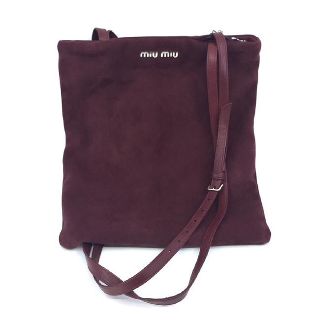 Item - Shopping Bag Camoscio Maroon Shoulder Hand 5bg011 Red Suede Leather Tote