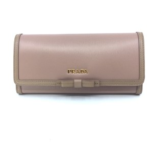 33b7a1851d27e Prada Prada Women s SnapClosure Wallet Blush Beige Detachable ID Card 1MH132