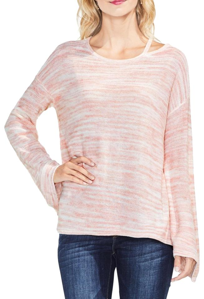 93617f7838a Vince Camuto Cutout Shoulder Space Pink Sweater - Tradesy