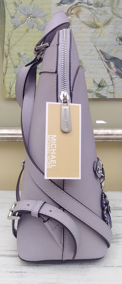 ed4e664b79be Michael Kors Mothers Day Special 3 Pc Emmy & Jet Set Wallet & Card Cas  Purple Leather Backpack - Tradesy