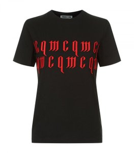 Alexander McQueen T Shirt black and red