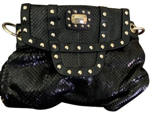 Jimmy Choo Satchel in Black with Gold grommets
