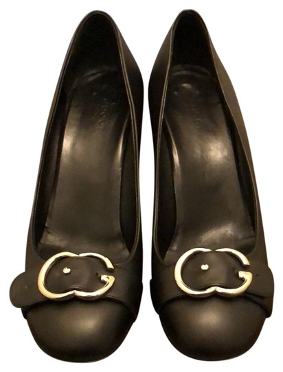 Gucci black leather with silver hardware Pumps Image 1