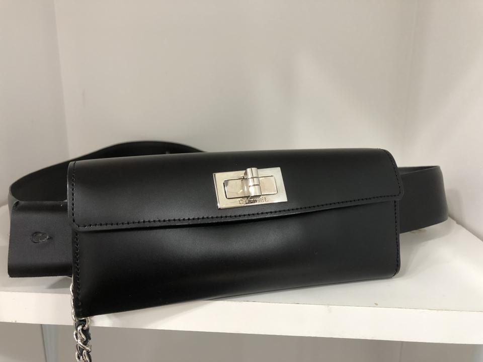 67eaca90d6fa Chanel Waist New With Black Leather Weekend/Travel Bag - Tradesy