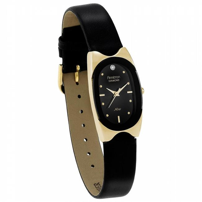 Item - Black Ladies Now with Oval Dial Leather Strap Watch