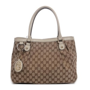 Gucci Gg Canvas Sukey Tote in Grey