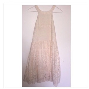 Dainty Hooligan short dress Cream/Pink on Tradesy