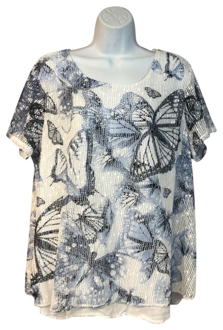 Preload https://img-static.tradesy.com/item/25252700/style-and-co-whiteblue-whiteblue-mesh-poly-xl-blouse-size-16-xl-plus-0x-0-1-650-650.jpg